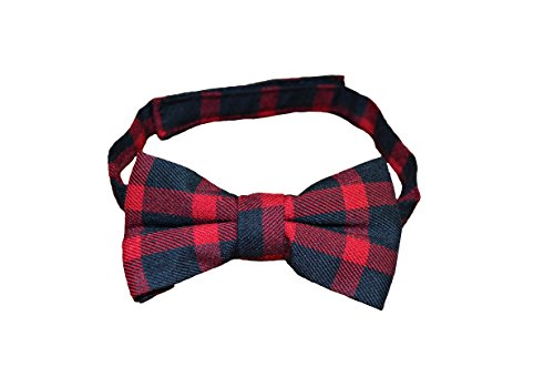 Lumberjack Red and Black Plaid Classy Boy Bow