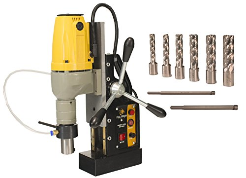 Steel Dragon Tools MD40 Magnetic Drill Press with 7pc 2'' Small HSS Cutter Kit by Steel Dragon Tools