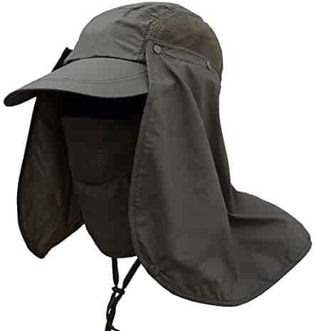 Weixinbuy Outdoor Hiking Fishing Hat Protection Cover Neck Face Flap Sun  Cap for Men Women 073a47ecb638