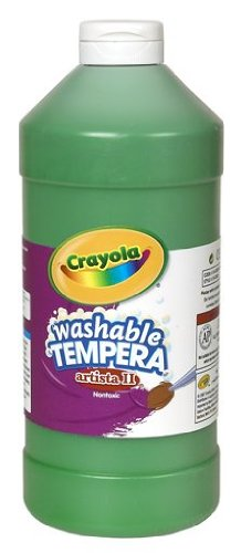 Crayola Green Washable Tempera Paint, 32- Ounce