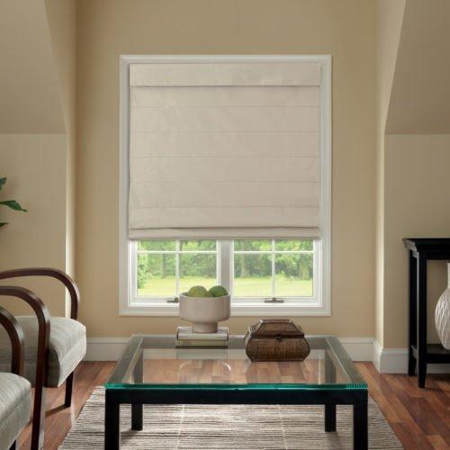 Cordless Fabric Roman Shade Linen product image