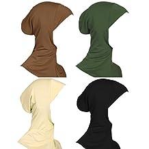 GladThink Womens Muslim Mini Hijab Caps Islamic Scarf 4 Pieces Set No.5