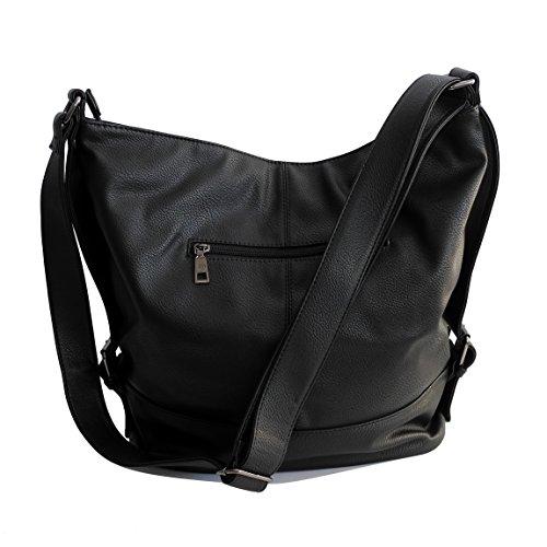 de présente ZMOKA main Noir Sac en Jones Loisir Noir Sac À à Travail divers Bandoulière XL Shopperbag moderne Couleurs pour Jennifer Sport 6qFZxwT4A6