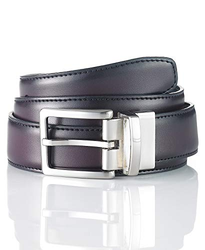 Club Room Leather Reversible Dress Belt Burgundy/Black Size 38 - Reversible Room Belt Club