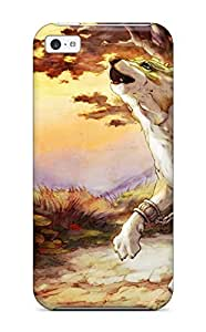 1753435K66523658 Quality Case Cover With Watercolor Wolf Painting Nice Appearance Compatible With Iphone 5c WANGJING JINDA