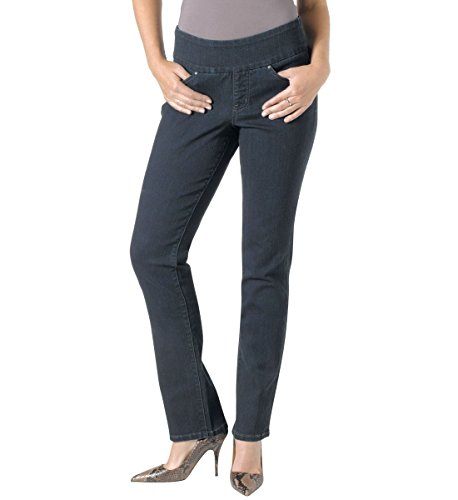 Jag Jeans Women's Peri Straight Pull on Jean, After Midnight, 10 Leg Ankle Jean