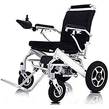 ComfyGO New Model 2019 Fold & Travel Lightweight Folding Remote Control Electric Wheelchair Motorized, FDA Approved, Aviation Travel (Silver)