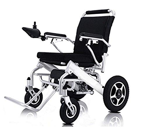 ComfyGO New Model 2019 Fold & Travel Lightweight Folding Remote Control Electric Wheelchair Motorized, FDA Approved, Aviation Travel (Silver) ()