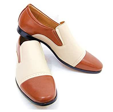 Majestic Men's Spectators . Fashionable Brown an Cream Spectators . Loafers. 9 US