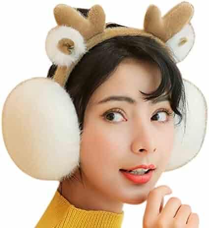 RUYA Girls Winter Warm Earmuffs Luminous in the dark Ear Cold Proof Warmer