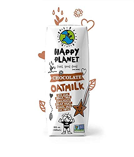 Happy Planet Chocolate Oat Milk 8oz Pack of 18 by Happy Planet (Image #3)