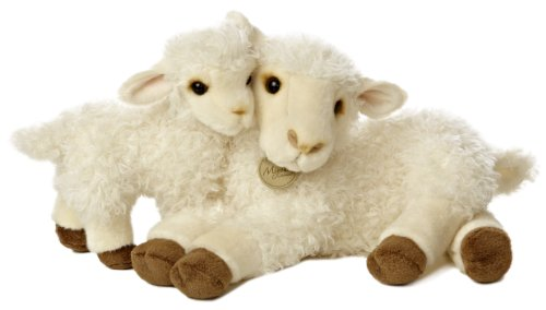 Aurora World Miyoni Ewe and Lamb Plush, 13.5