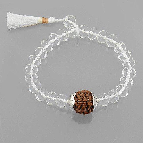 Skyjewels Spatik Bracelet with Nine Faceted Rudraksha