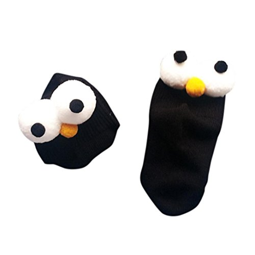 FEITONG 1 Pairs Cotton Short Eyes Socks for Baby Boys Girls