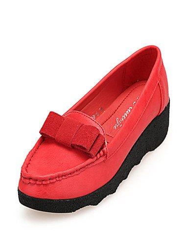 Cn36 Zq Gray Redonda Gray Eu36 Zapatos De Punta Uk4 Gris Mujer Eu39 Semicuero Gyht us6 Tacón us8 Mocasines Rojo Cuña Uk6 Cn39 Casual BwrOB0