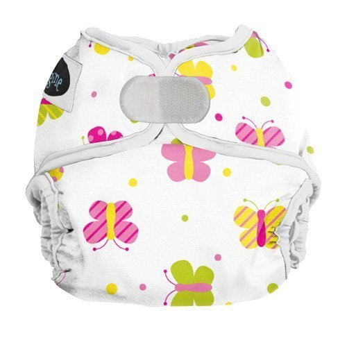 Imagine Baby Products Newborn Hook and Loop Diaper Cover, Flutter