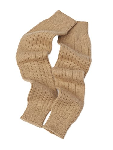 Cashmere Boutique: 100% Pure Cashmere Leg Warmers (Color: Camel Brown, Size: One Size)