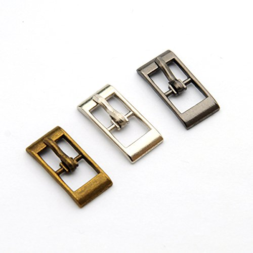 Buckes - Wholesale 90pcs/lot Metal Small 8mm Shoe Buckle with pin Alloy Sandal Buckle Silver Nickle BK-040 - (Size: Mixed Color) from Lysee