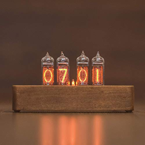 Nixie Tube Clock with New and Easy Replaceable IN-14 Nixie Tubes Like Seen in Travelers on Netflix