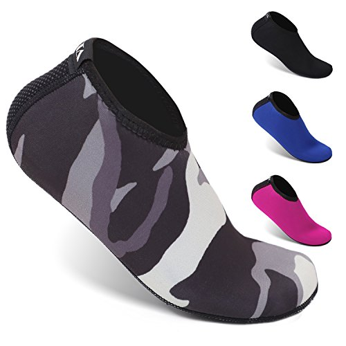 Heeta Neoprene Water Socks for Women Men Water Shoes for Diving, Snorkeling, Swimming All Water Sports Camouflage