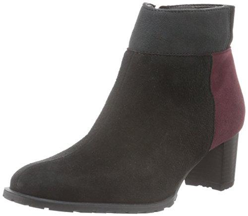 Ara Brighton-Stf, Zapatillas de Estar por Casa para Mujer Negro - Schwarz (Schwarz,barolo/Crow 77)
