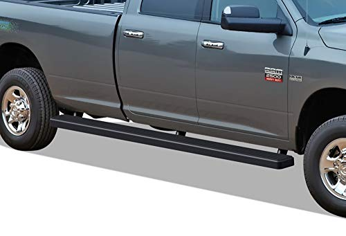 (iBoard Running Boards (Nerf Bars | Side Steps | Step Bars) For 2009-2018 Ram 1500 Crew Cab Pickup 6.5ft Bed (Incl. 2019 Ram 1500 Classic)& 2010-2019 Ram 2500/3500 | (Black Powder Coated 5 inches WTW))