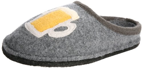 Haflinger Oktoberfest Slipper,Grey,43 EU (Women's 12 M US/Men's 10 D US) (Mens Boiled Slippers)