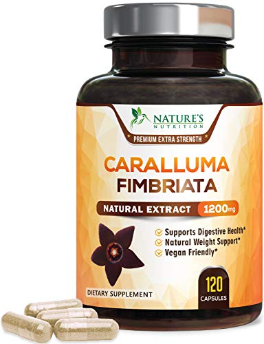 Caralluma Fimbriata Extract Highly Concentrated 1200mg – Natural Endurance Support, Made in USA, Best Vegan Diet…