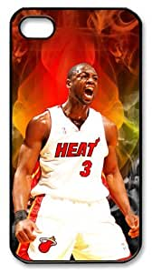 LZHCASE Personalized Protective Case for iPhone 4/4S - Dwyane Tyrone Wade, NBA Miami Heat
