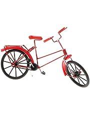 Iron Decorative Bicycle Model Desk Decor, 7.9''L x 2.6''W x 5.5''H - Red, Size(LxWxH): 20 x 6.5 x 14 cm