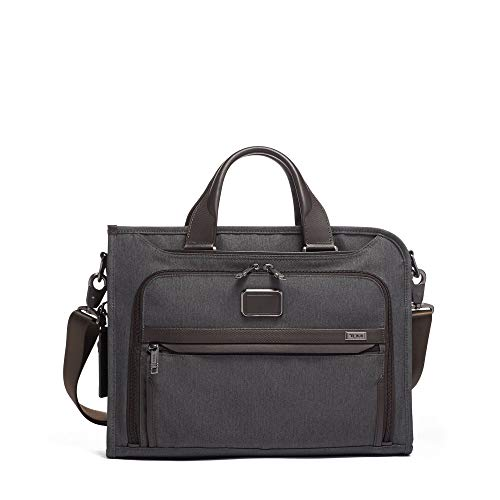 TUMI - Alpha 3 Slim Deluxe Portfolio Bag - Organizer Briefcase for Men and Women - Anthracite