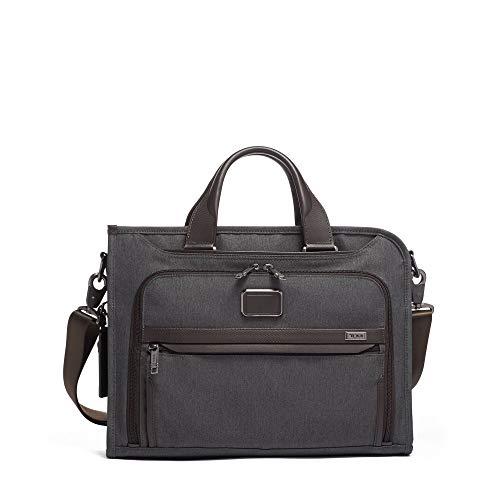(TUMI - Alpha 3 Slim Deluxe Portfolio Bag - Organizer Briefcase for Men and Women - Anthracite)