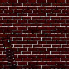 Create-A-Scene Red Brick Wall Cover - 42