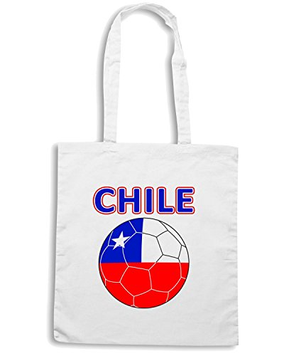 T-Shirtshock - Bolsa para la compra T0705 chile calcio ultras Blanco