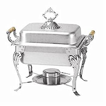 Crown Chafer 508 – 4 qt Oblong Stainless Steel W Dome Cover Winco, Set of 3