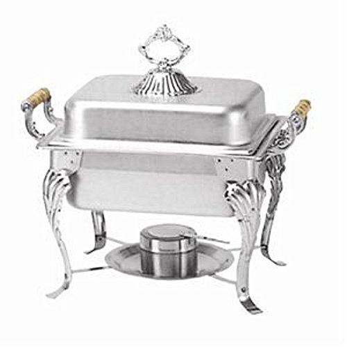 Crown Chafer 508 - 4 qt Oblong Stainless Steel W/ Dome Cover Winco, Set of 3