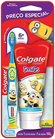 Kit Colgate Smiles Escova Dental + Creme Dental Minions 100ml com Preço Especial