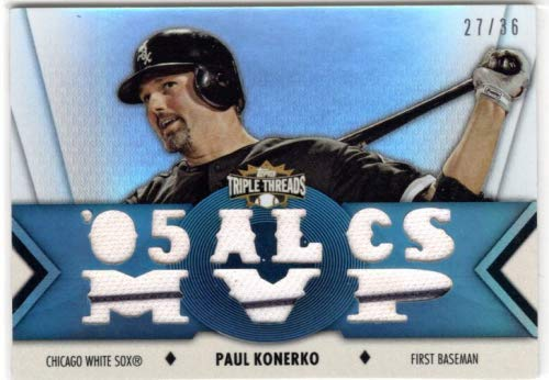 2012 Topps Triple Threads Relics #TTR157 Paul Konerko Game-Worn Jersey Card Serial #27/36 - Chicago White Sox