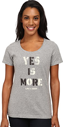 life-is-good-womens-creamy-scoop-yes-is-more-t-shirt-heather-gray-x-large