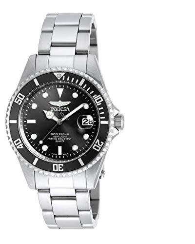 (Bracelet Dive Watch Men's Diver Pro Black Dial SS)
