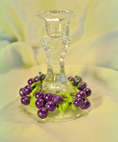 Grape Design Candle Stick Holders - Set of 2