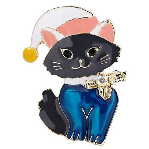 VVANT Brooch for Women Lovely Cat Brooch Pin,Fashion Gifts for Birthday/Daily (Cat Blue)