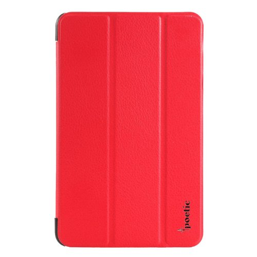 Google Nexus 7 Case - Poetic Google Nexus 7 Case [Slimline Series] - [Lightweight] [Ultra-slim] PU Leather Slim-Fit Trifold Cover Stand Folio Case for Google Nexus 7 1st Gen Red (3 Year Manufacturer Warranty From Poetic) (Best Case For Nexus 7 1st Gen)