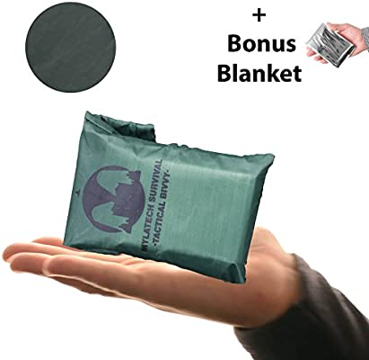 mylatech supervivencia manta térmica tienda de campaña + con revestimiento de color + bolsa. Alta con revestimiento térmico Mylar saco de dormir y nuestra ...