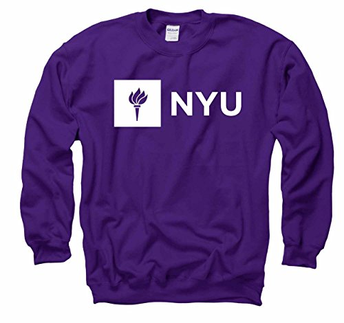Campus Colors NYU Violets Adult Just Logo Crewneck Sweatshirt - Purple, X-Large