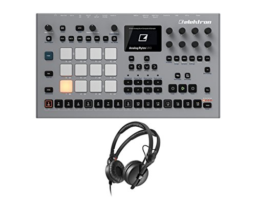 Elektron Analog Rytm MKII Sampler Sequencer Drum Machine + Sennheiser HD 25