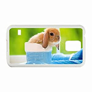 Personality customization Custom Fashion Design Samsung Galaxy S5 Back Cover Case Personalized Customized Diy Gifts In Lovely rabbit White By CUY Cases