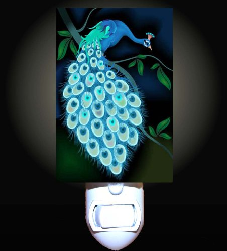 Midnight Peacock Decorative Night Light