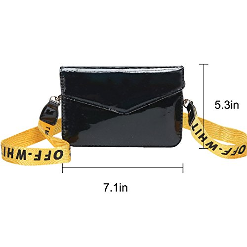 Tote Clutch Shoulder PU Evening ZLMBAGUS Women Crossbody Hologram Bag Bag Handbag Fashion Black Purse Bag wqqtPZYf