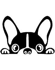 A/X Autosticker Autosticker Vinyl 15,2 * 10,8 cm Boston Terrier Hond Dieren Cartoon Stickers en Stickers Grappige 3D-stickers Op Auto Styling Creatief